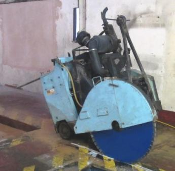 Floor Saw, FS904T, 900mm diamond blade, cuts 370mm deep, cutting, sawing, diamond tools, hire floor saw
