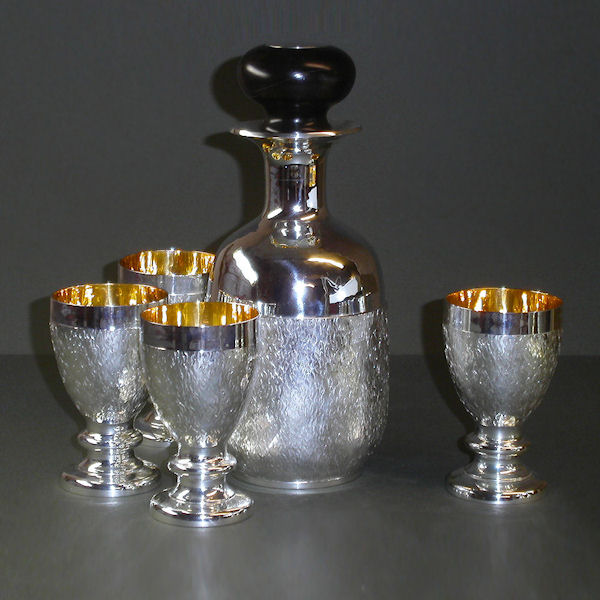 Wine decanter & goblets