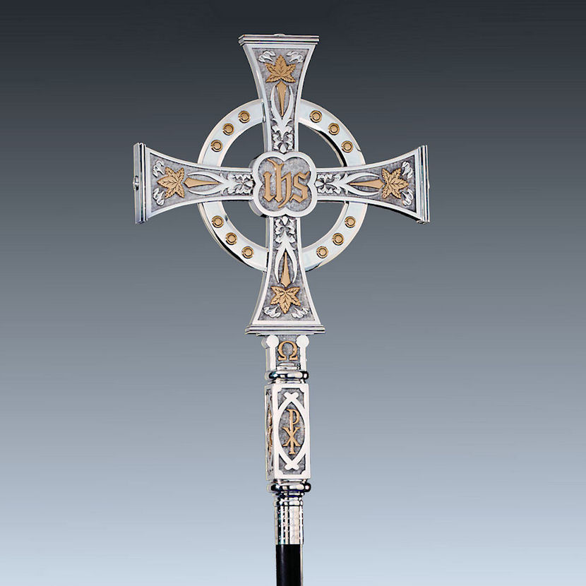 silver processional cross