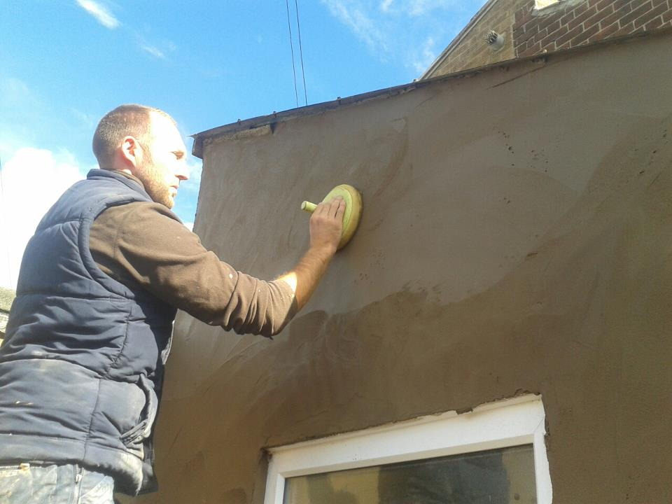 rendering co durham. rubbing up render