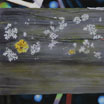 Painting / Biss Meadows: Lichen on the handrail of the old footbridge